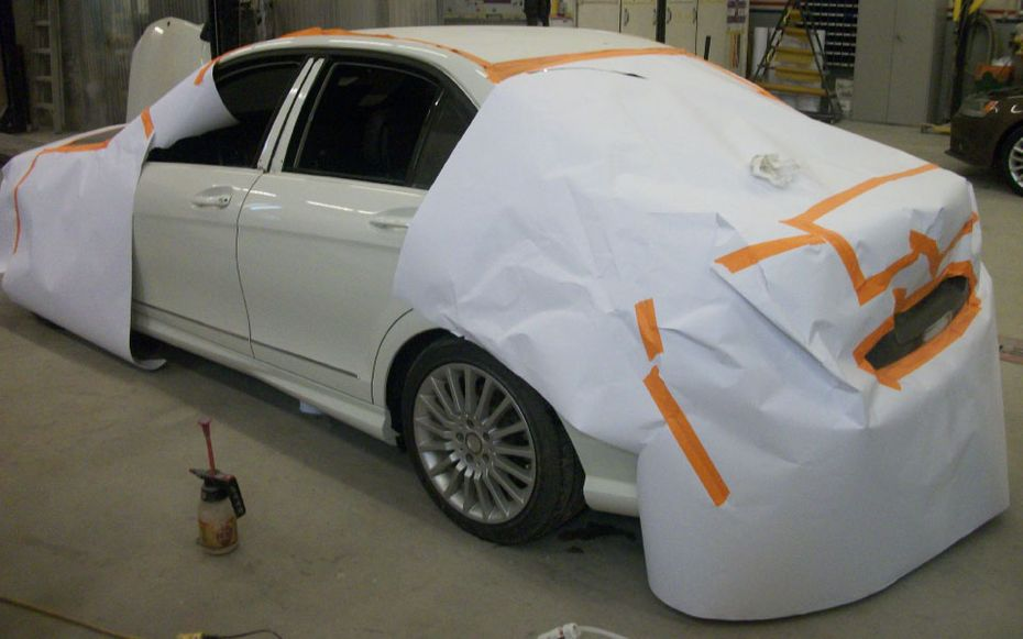 white car painting